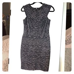 Ann Taylor navy and white dress size 0 petite